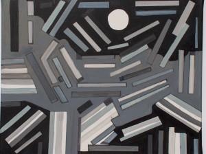 Mondnacht, Acryl auf Leinwand, ( Grösse: B: 50 cm H: 60 cm ) - 160,00 Euro