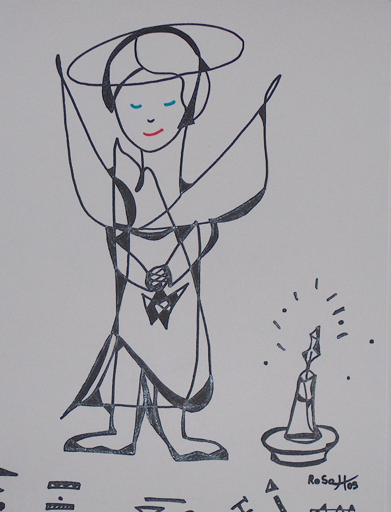 Engel mit Stern und Kerze