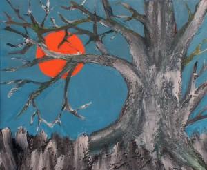 Alter Baum, Acryl und Strukturpaste auf Leinwand, 60 cm x 50 cm, 150 Euro