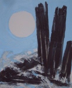 Ohne Titel, Acryl und Strukturpaste auf Leinwand, 60 x 50 cm, 180 Euro