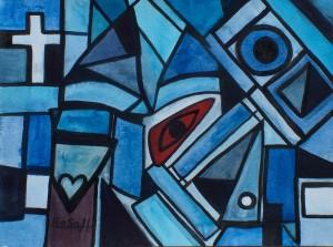 Blues, Aquarell auf Aquarellpapier, 35 x 48 cm, 150 Euro
