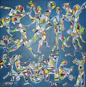 Acryl auf Leinwand, 80 x 80 cm,