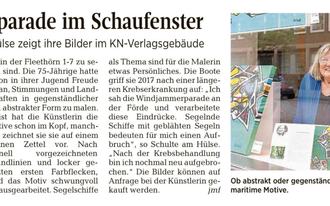 """Meine Bilder im Kieler Nachrichtengebäude """"Kunst an der Ecke"""""""